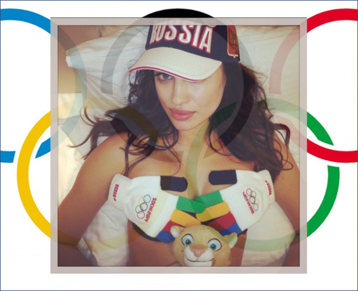 Irina Shayk and a creeper of a mascot :: instagram.com/irinashayk