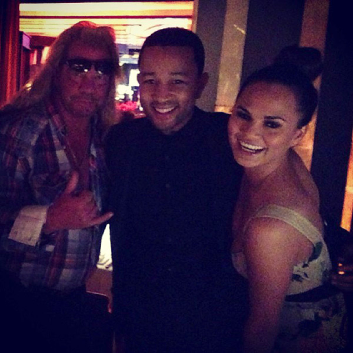 Dog the Bounty Hunter, John Legend and Chrissy Teigen :: @chrissy_teigen