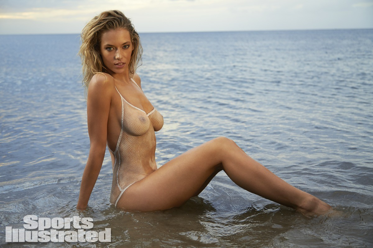 Hannah Ferguson 2014 Swimsuit body paint 22