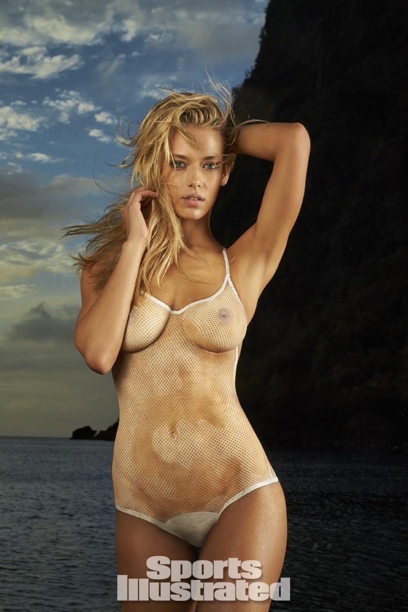 Hannah Ferguson 2014 Swimsuit body paint 14
