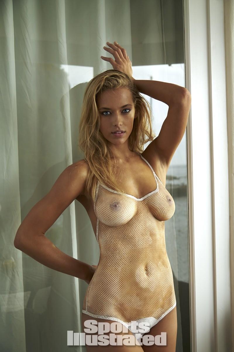 Hannah Ferguson 2014 Swimsuit body paint 10