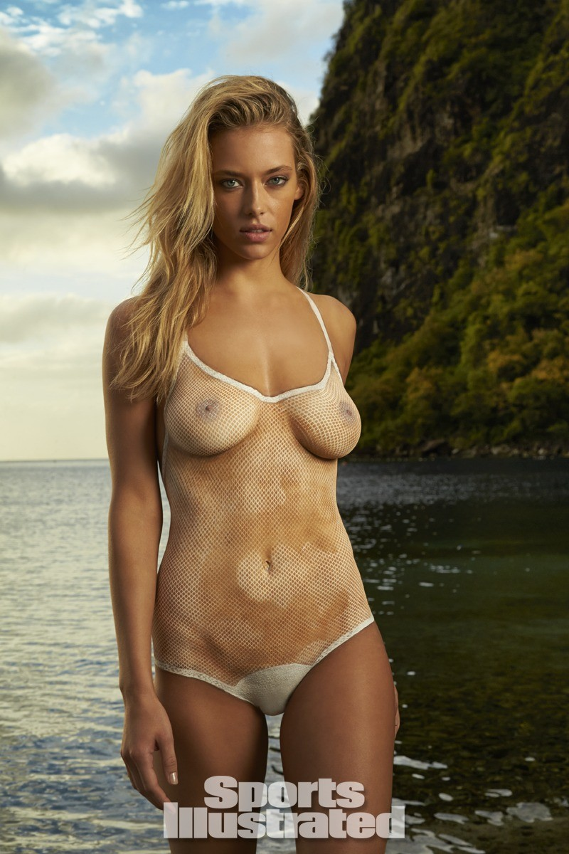 Hannah Ferguson 2014 Swimsuit body paint 2