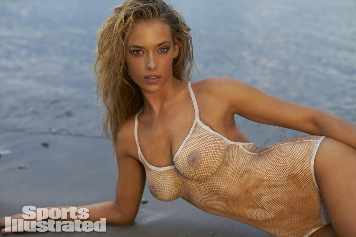 Hannah Ferguson 2014 Swimsuit body paint 4