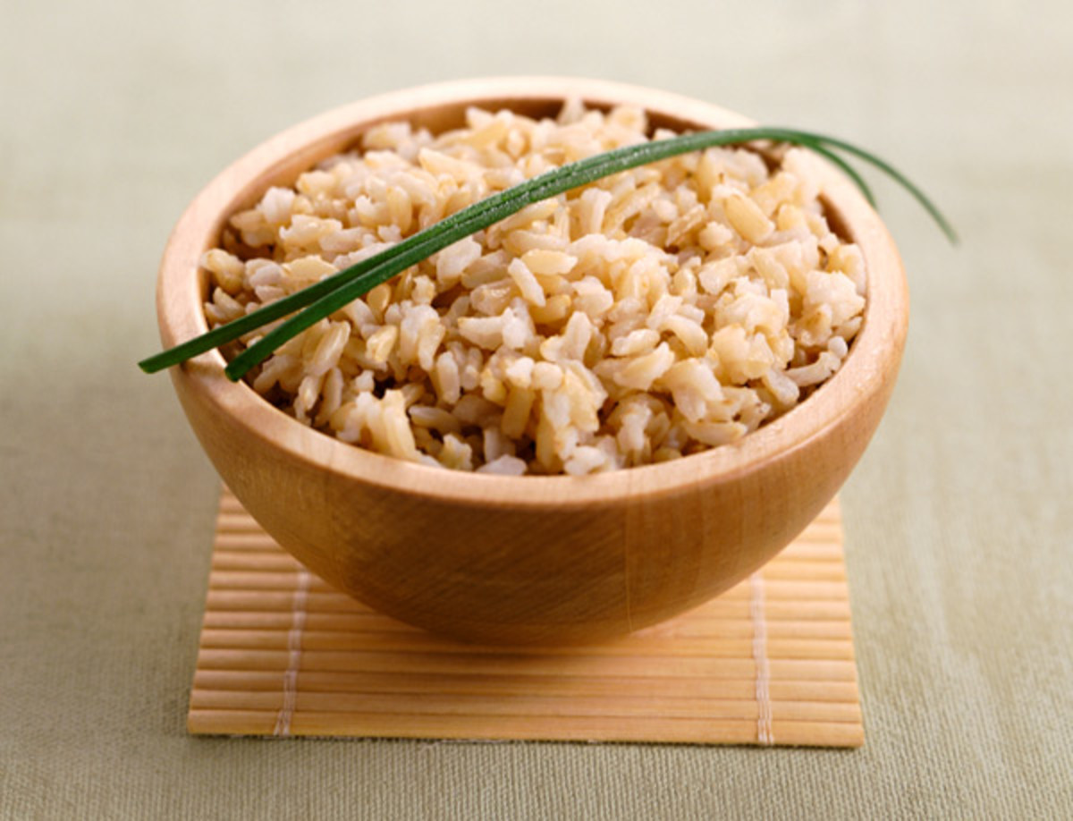 Brown rice can be used as a substitute for white rice.
