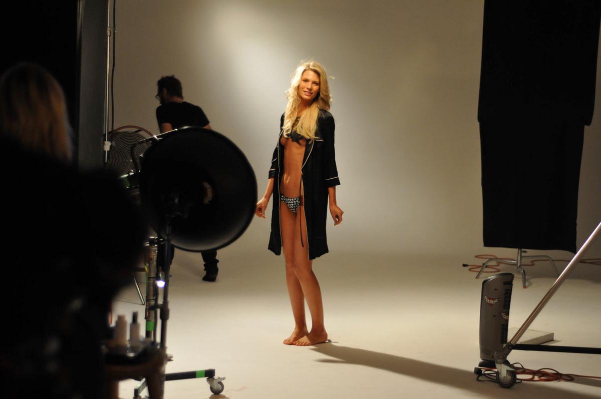 Sarah Brandner in body paint, SI Swimsuit 2010