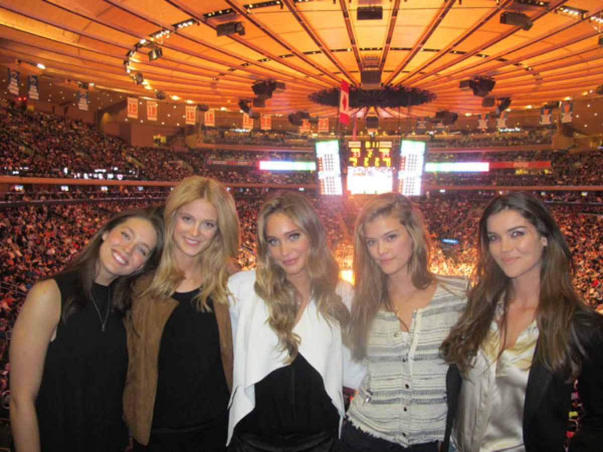 Emily DiDonato, Kate Bock, Hannah Davis, Nina Agdal and Natasha Barnard :: MJ Day/SI