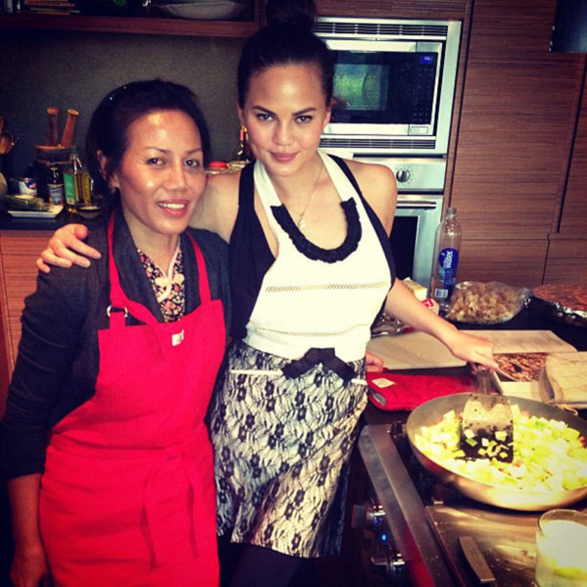Chrissy and Mama Teigen :: @chrissy_teigen
