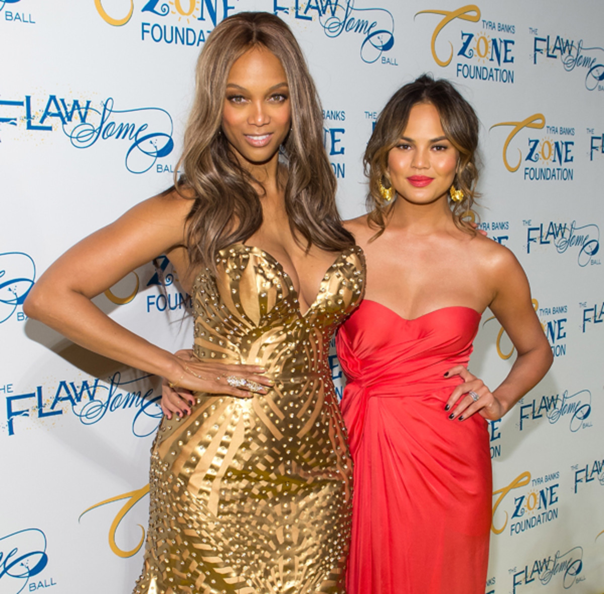 Tyra Banks and Chrissy Teigen :: WireImage
