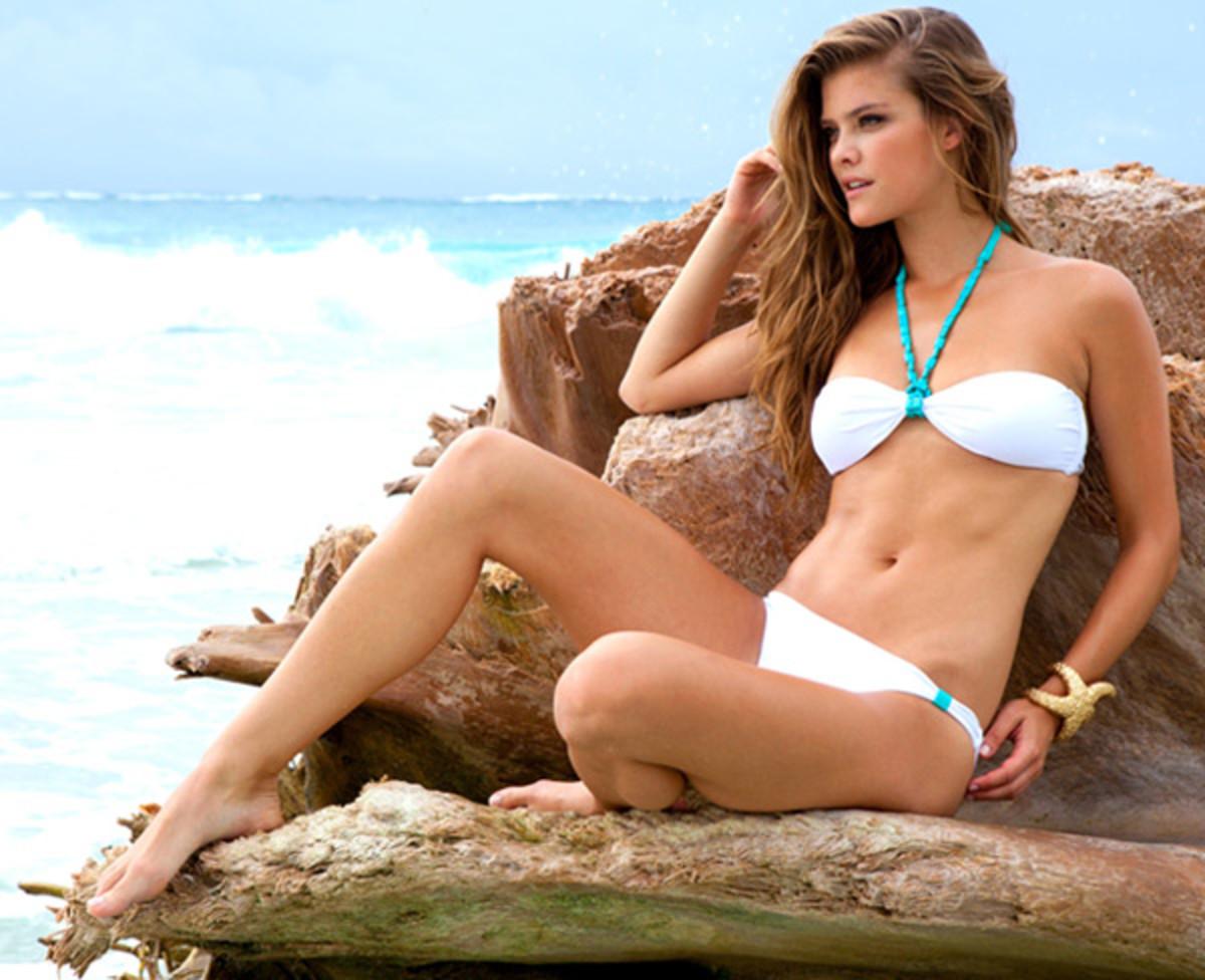 Nina Agdal for Sauvage Swimwear