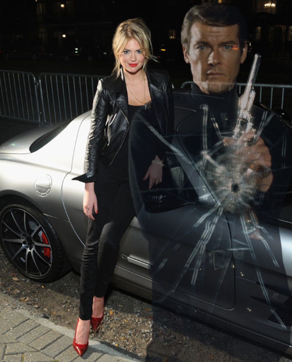 Kate Upton :: Craig Barritt/Getty Images  |  Roger Moore :: Terry O'Neill