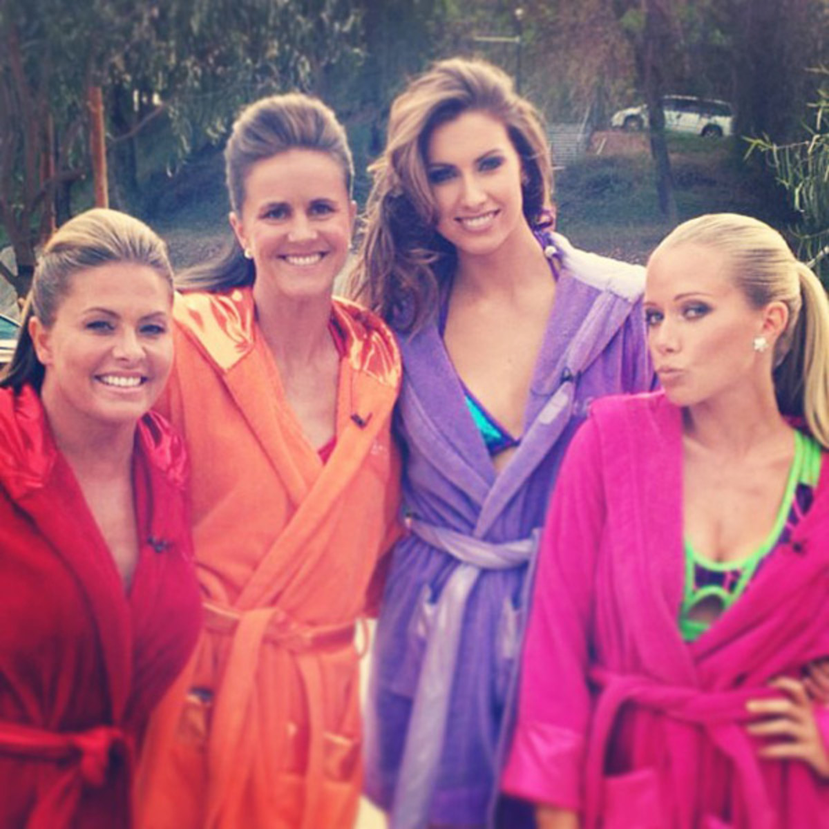 Nicole Eggert, Brandi Chastain, Katherine Webb and Kendra Wilkinson :: @_katherinewebb