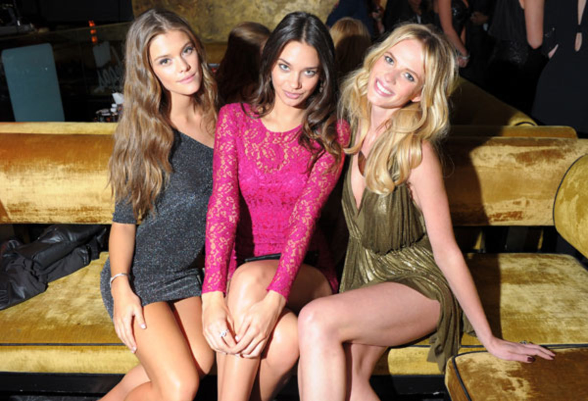 Nina Agdal, Michelle Vawer and Anne V :: Michael Loccisano/Getty Images