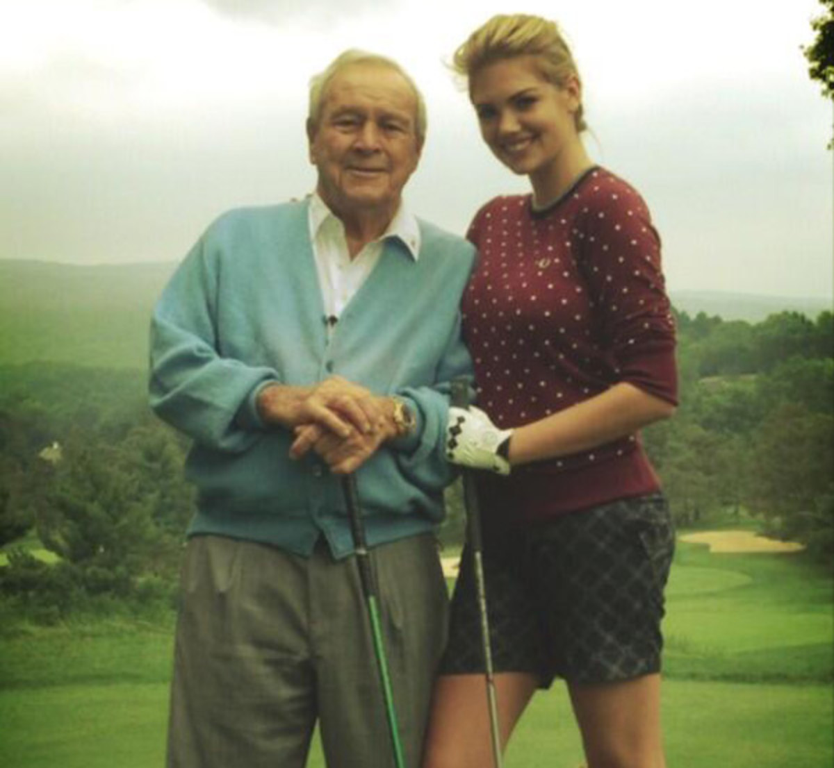 Arnold Palmer and Kate Upton :: @KateUpton