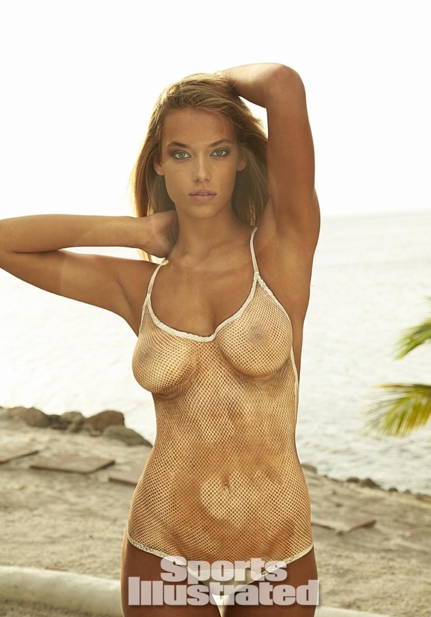 Hannah Ferguson 2014 Swimsuit body paint 12