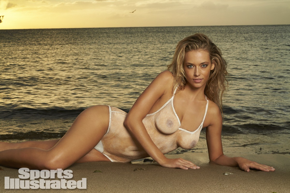 Hannah Ferguson 2014 Swimsuit body paint 1