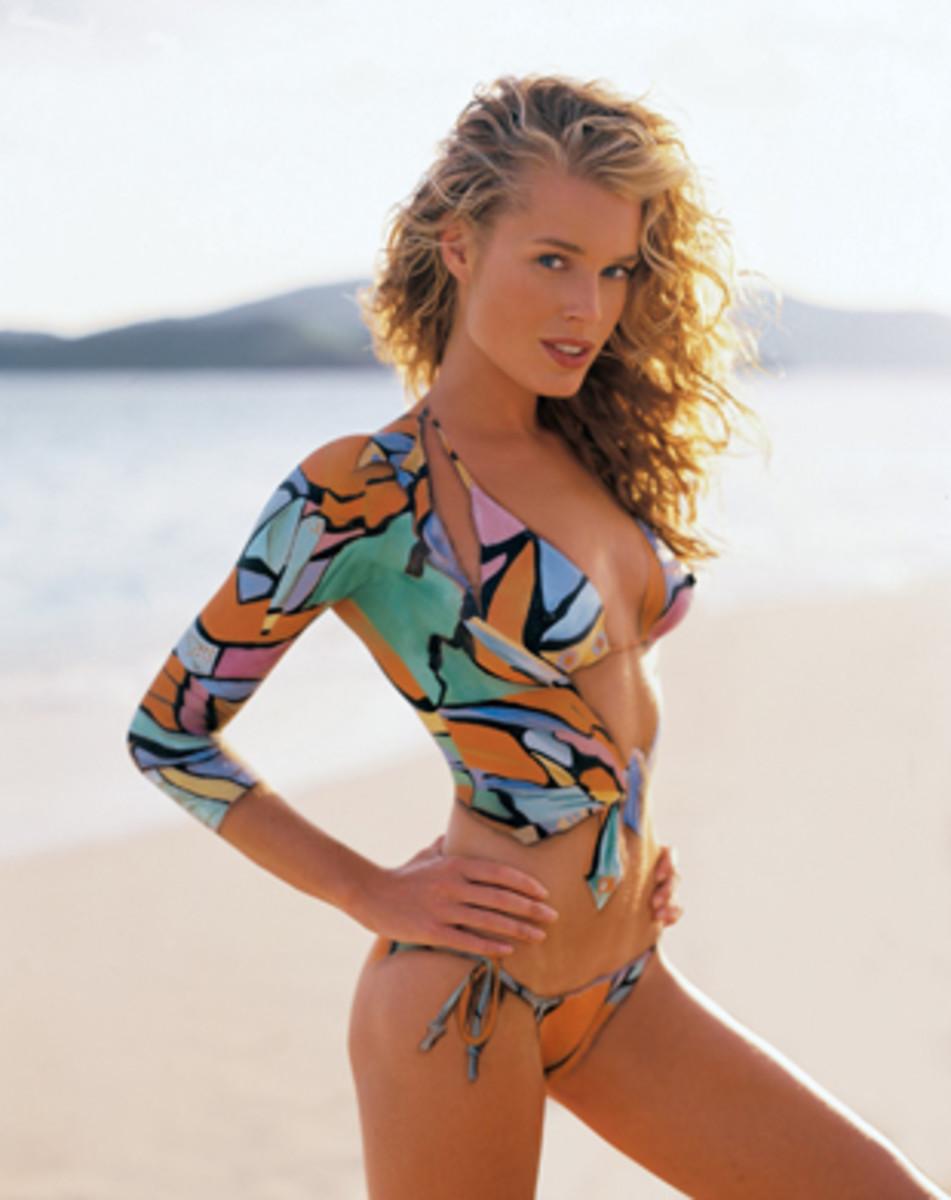 Rebecca Romijn in a Pucci-inspired suit, 1999