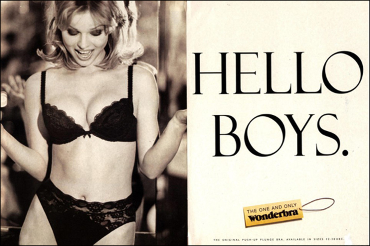 Eva for the relaunch of  Wonderbra, 1994  ::  Playtex Products