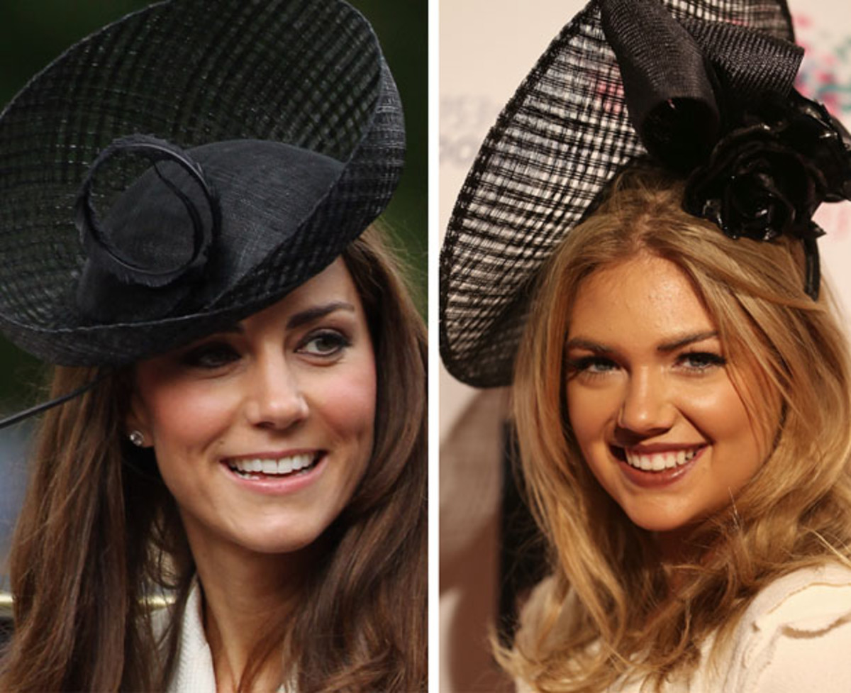 Dutchess of Cambridge :: Dan Kitwood/Getty Images /// Kate Upton :: Mark Metcalfe/Getty Images