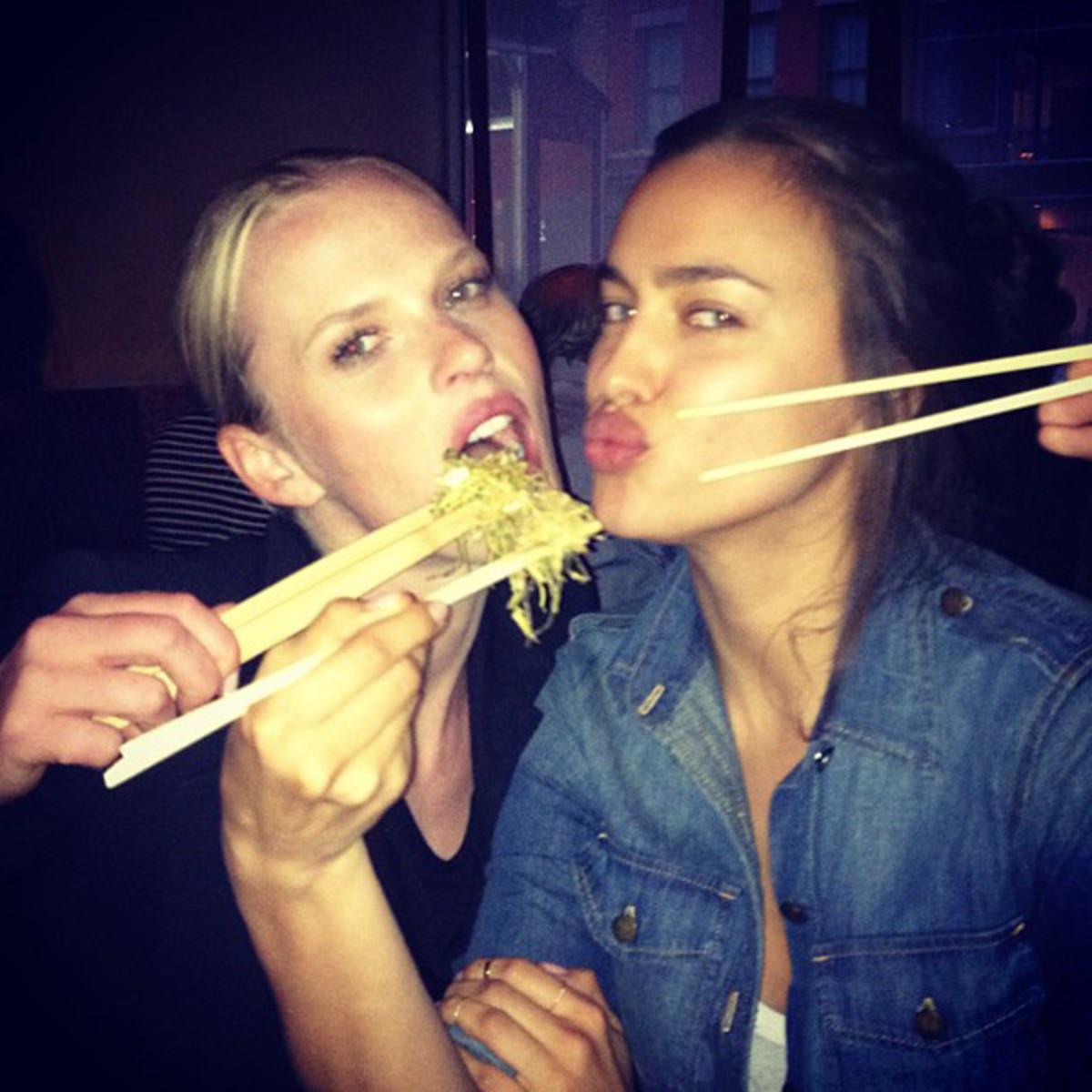 Anne V and Irina Shayk :: @annev_official