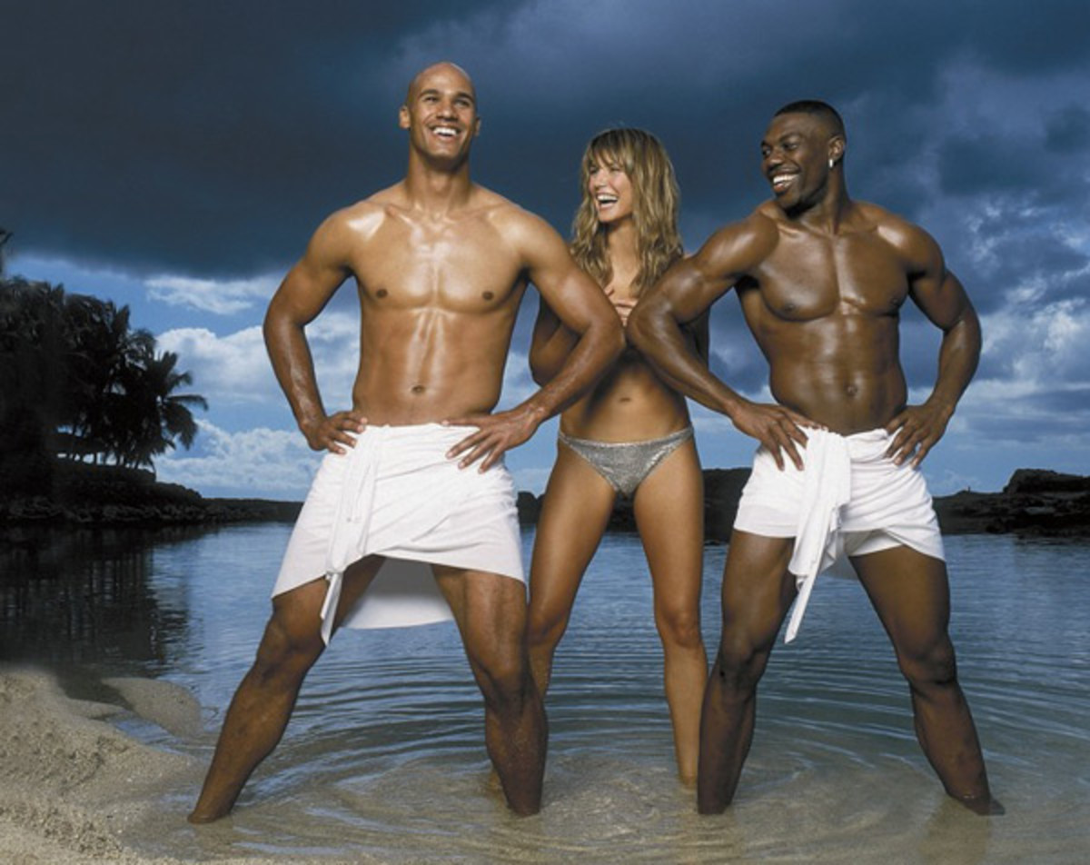 Jason Taylor, Heidi Klum and Terrell Owens :: Walter Iooss Jr./SI