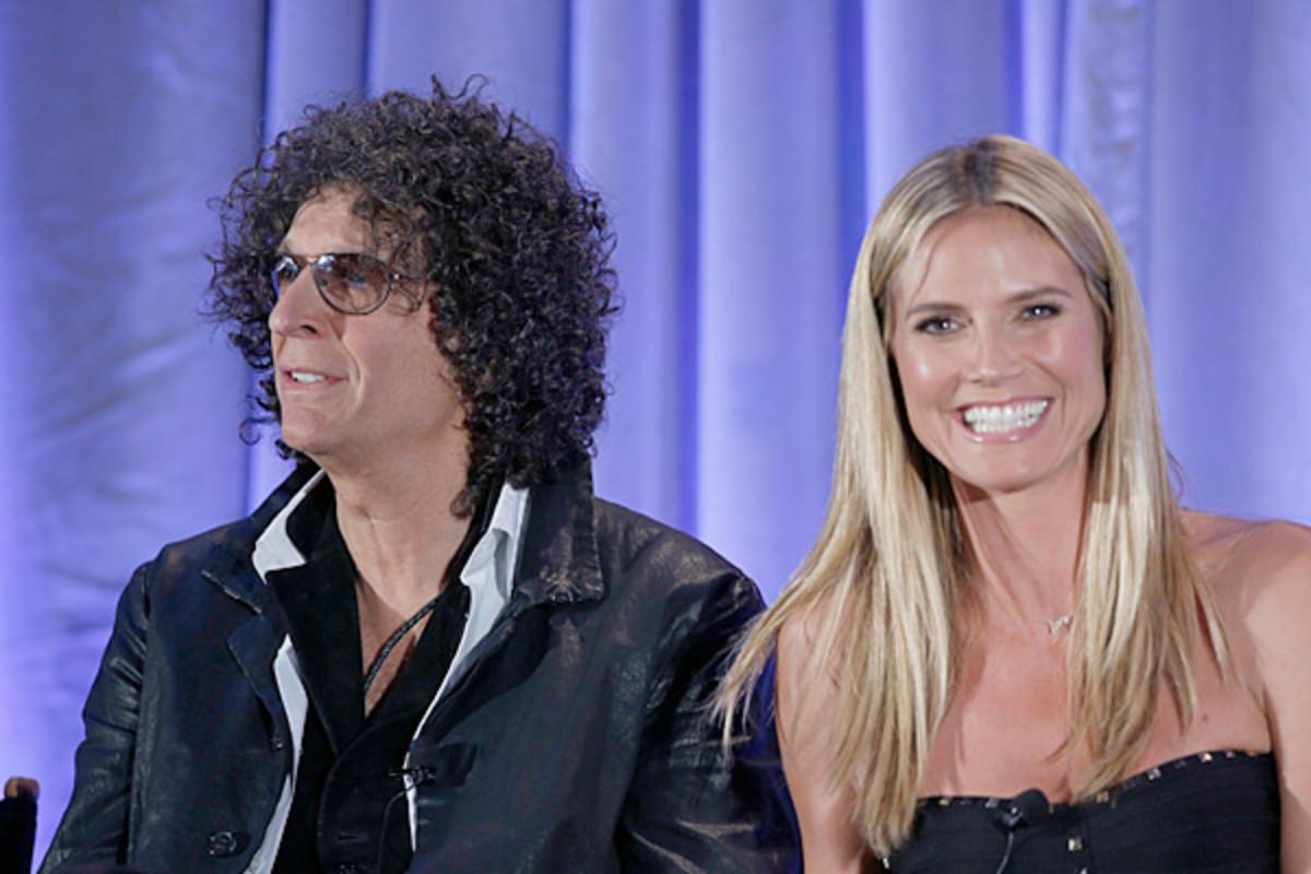 Howard Stern and Heidi Klum :: NBC/Getty Images