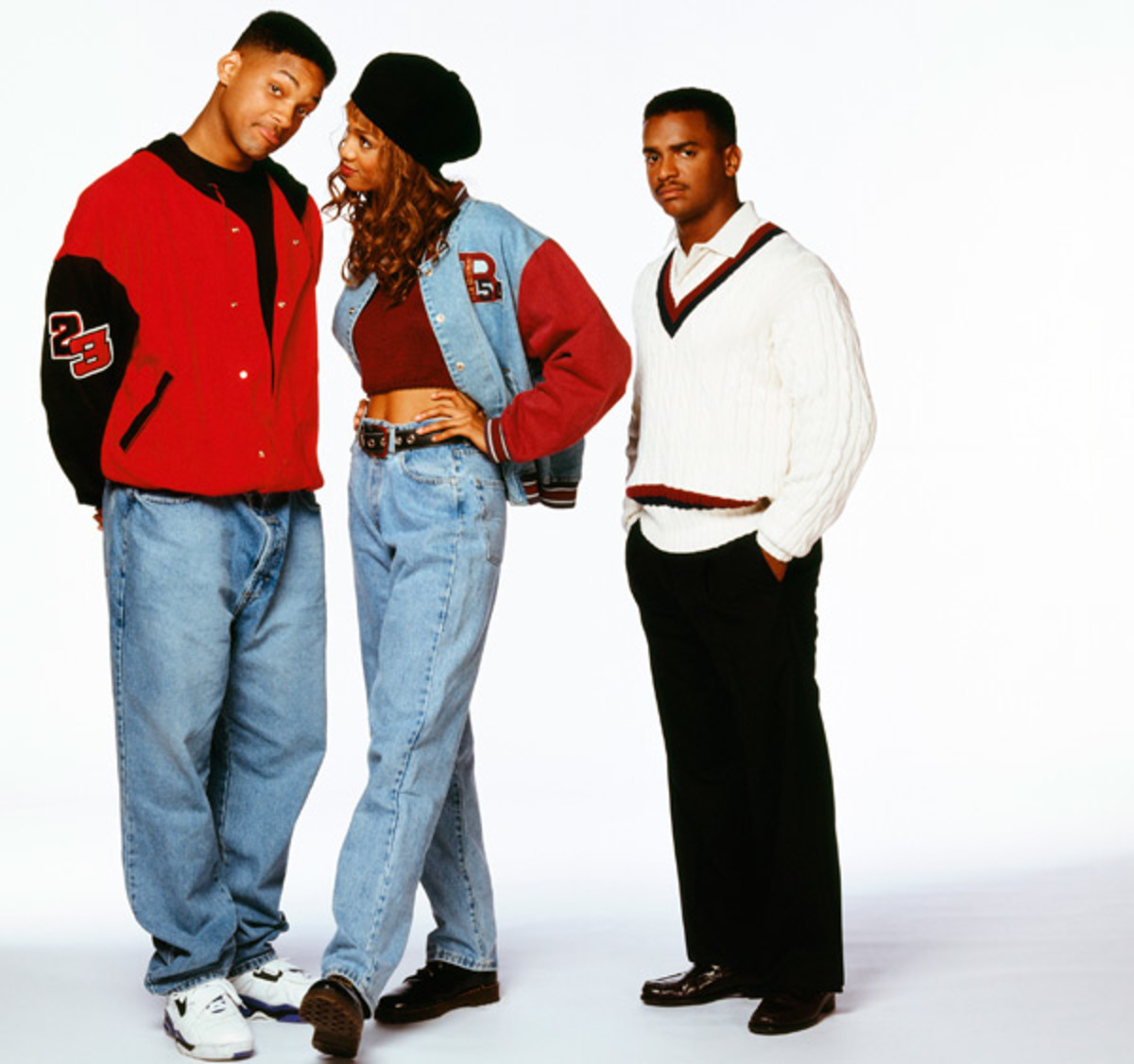 (The Fresh Prince of Bell Air) Will Smith, Tyra Banks and Alfonso Rebeiro :: Chris Haston/NBC/Getty Images