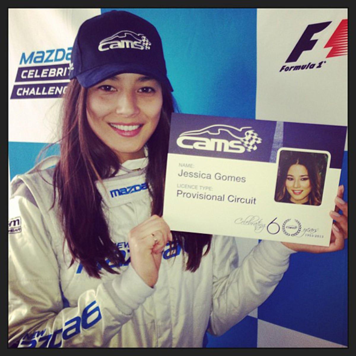 Jessica Gomes' F1 License :: @iamjessicagomes
