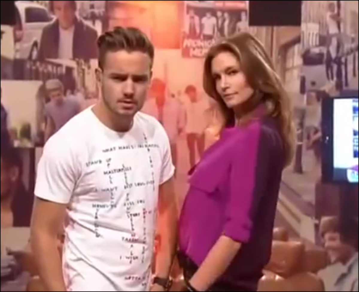 Liam Payne and Cindy Crawford  ::  YouTube.com