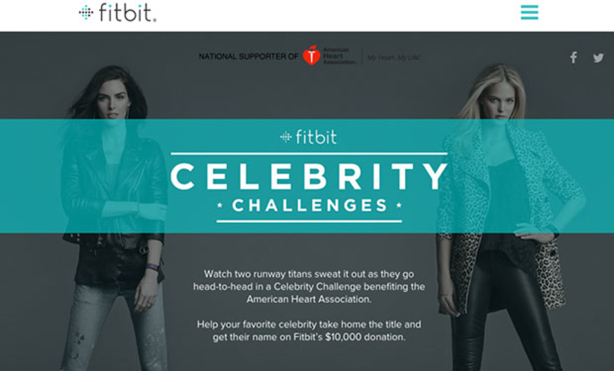 Models Erin Heatherton and Hilary Rhoda faced off in the first-ever Fitbit Celebrity Challenge.