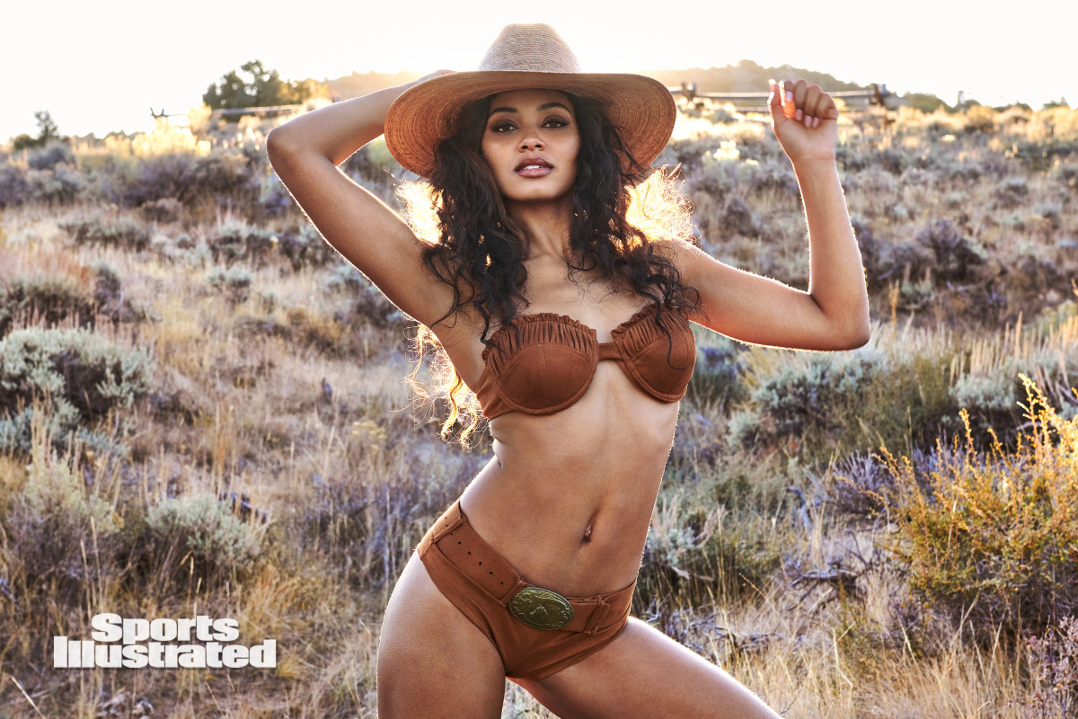 Danielle Herrington was photographed by Ruven Afanador in Saratoga, WY. Swimsuit by Andi Bagus. Hat by Lack of Color.