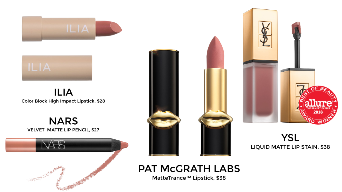 lip stick by ILIA, NARS, PAT McGRATH, YSL BEAUTY