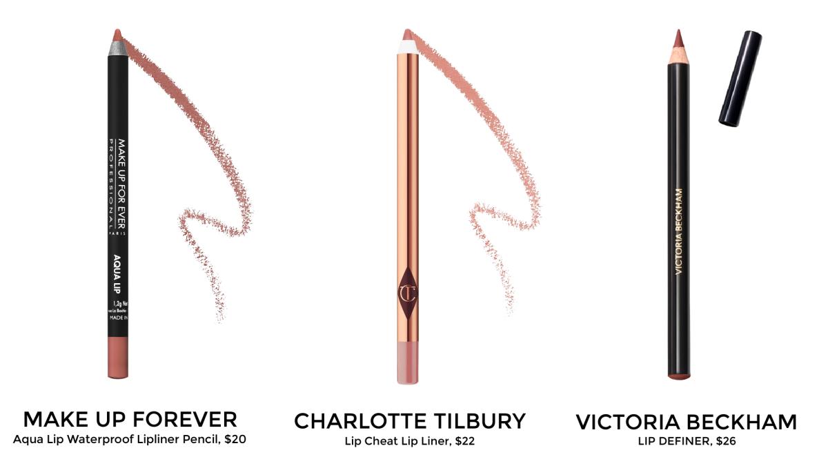 lip liners by MAKE UP FOREVER, CHARLOTTE TILBURY, VICTORIA BECKHAM