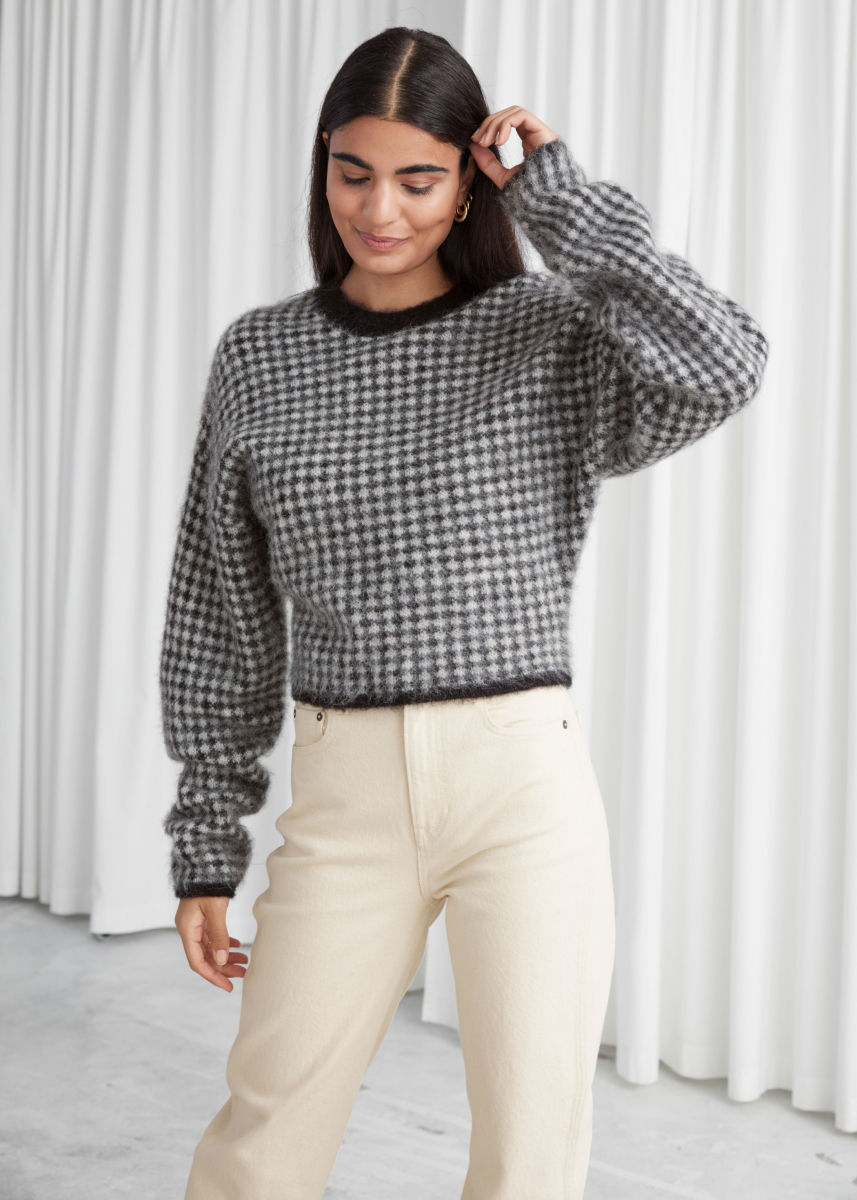 & other stories checkered sweater