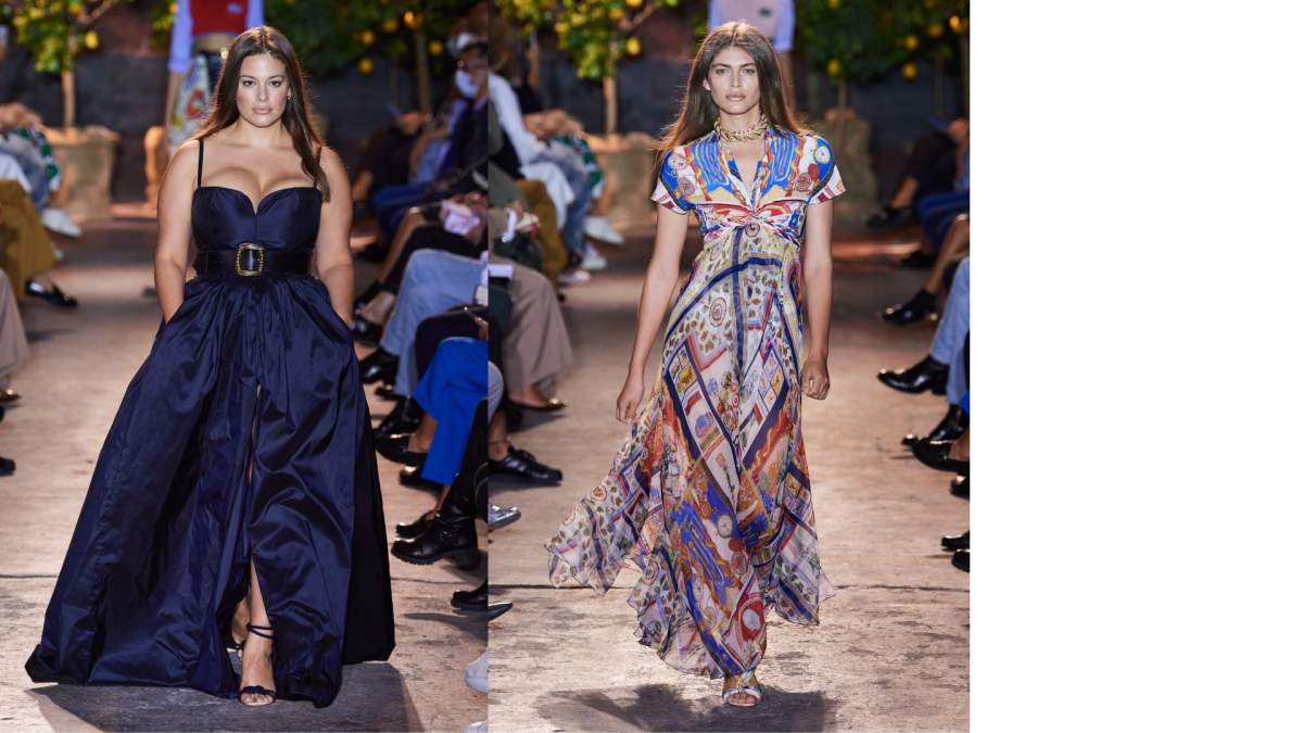 Images courtesy of ETRO. Models: Ashley Graham, Valentina Sampaio.