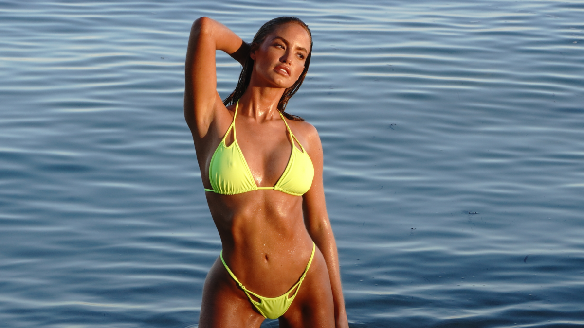Exclusive behind the scenes of Haley Kalil in Hollywood, FL wearing Teeny B Bikini Couture.