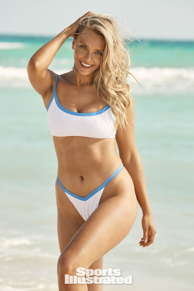 Camille Kostek was photographed by Ben Watts in Hollywood, FL wearing Oh Polly.