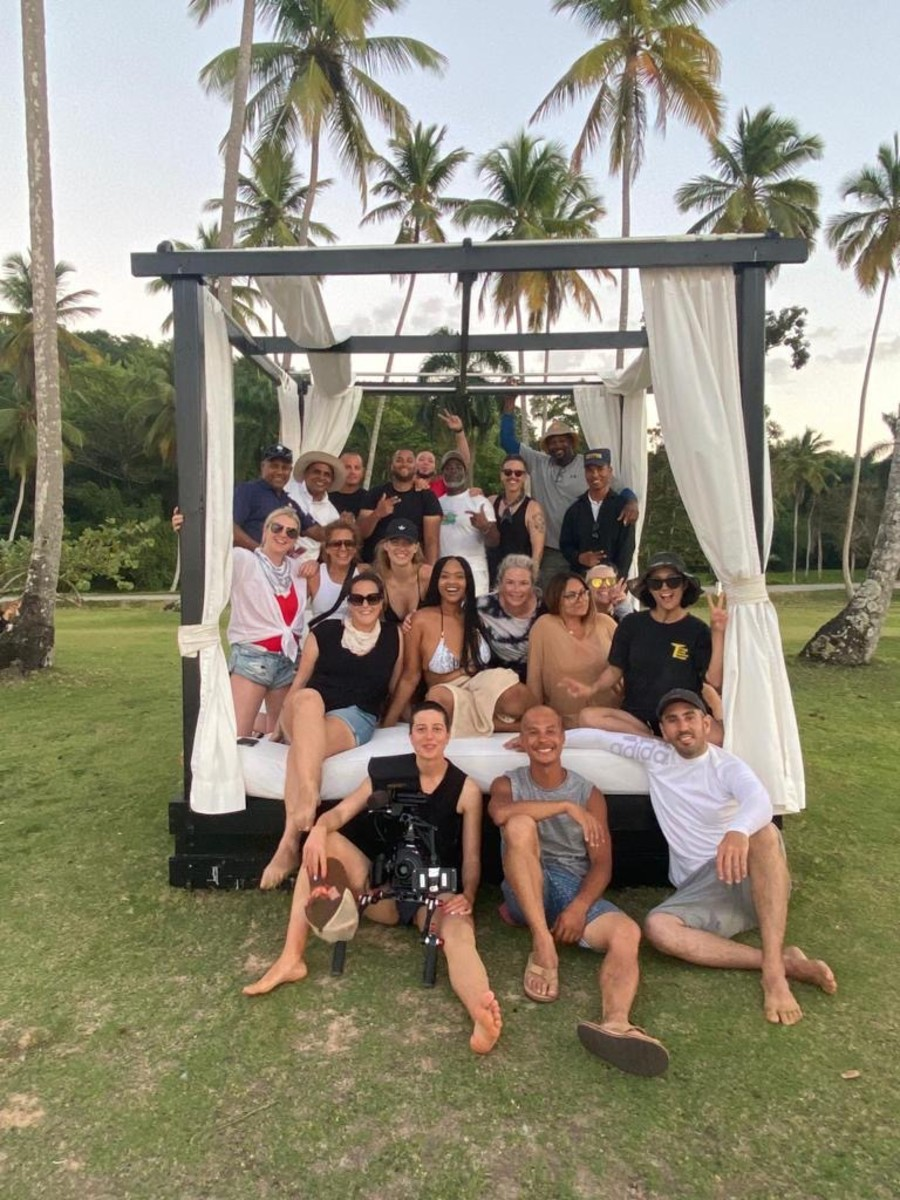 The SI Swimsuit crew shooting the 2020 magazine in the Dominican Republic.
