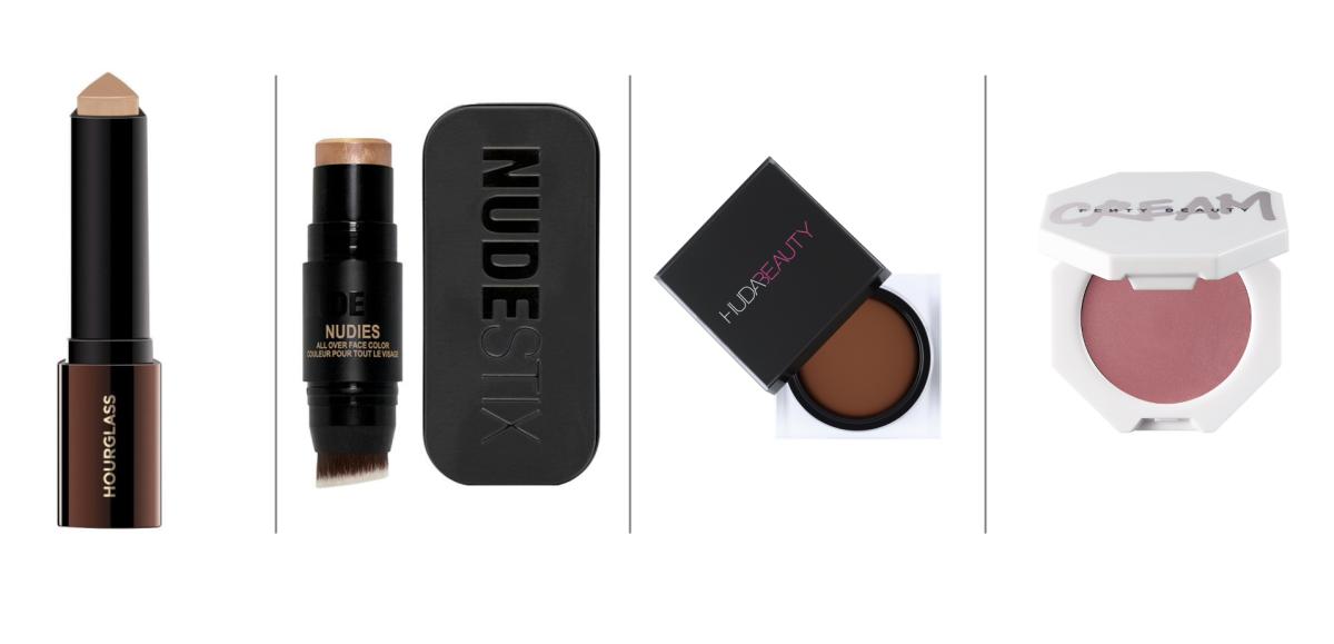 Hourglass Cosmetics ($46), Nudestix ($32), Huda Beauty ($30), Fenty Beauty ($20).