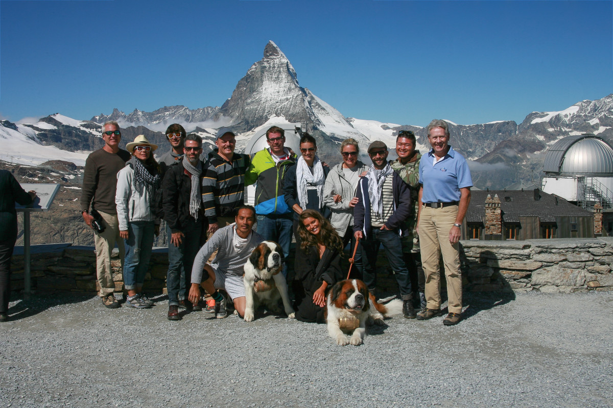 The SI Swimsuit crew in Switzerland.