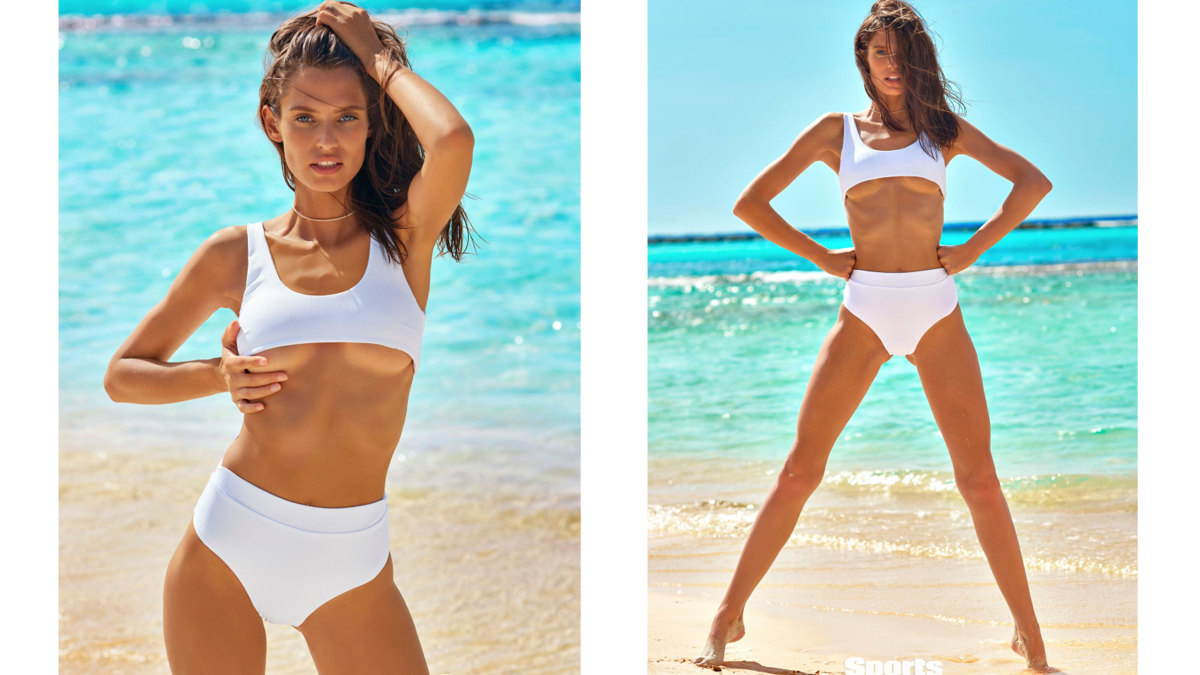 Bianca Balti wearing Myra Swim