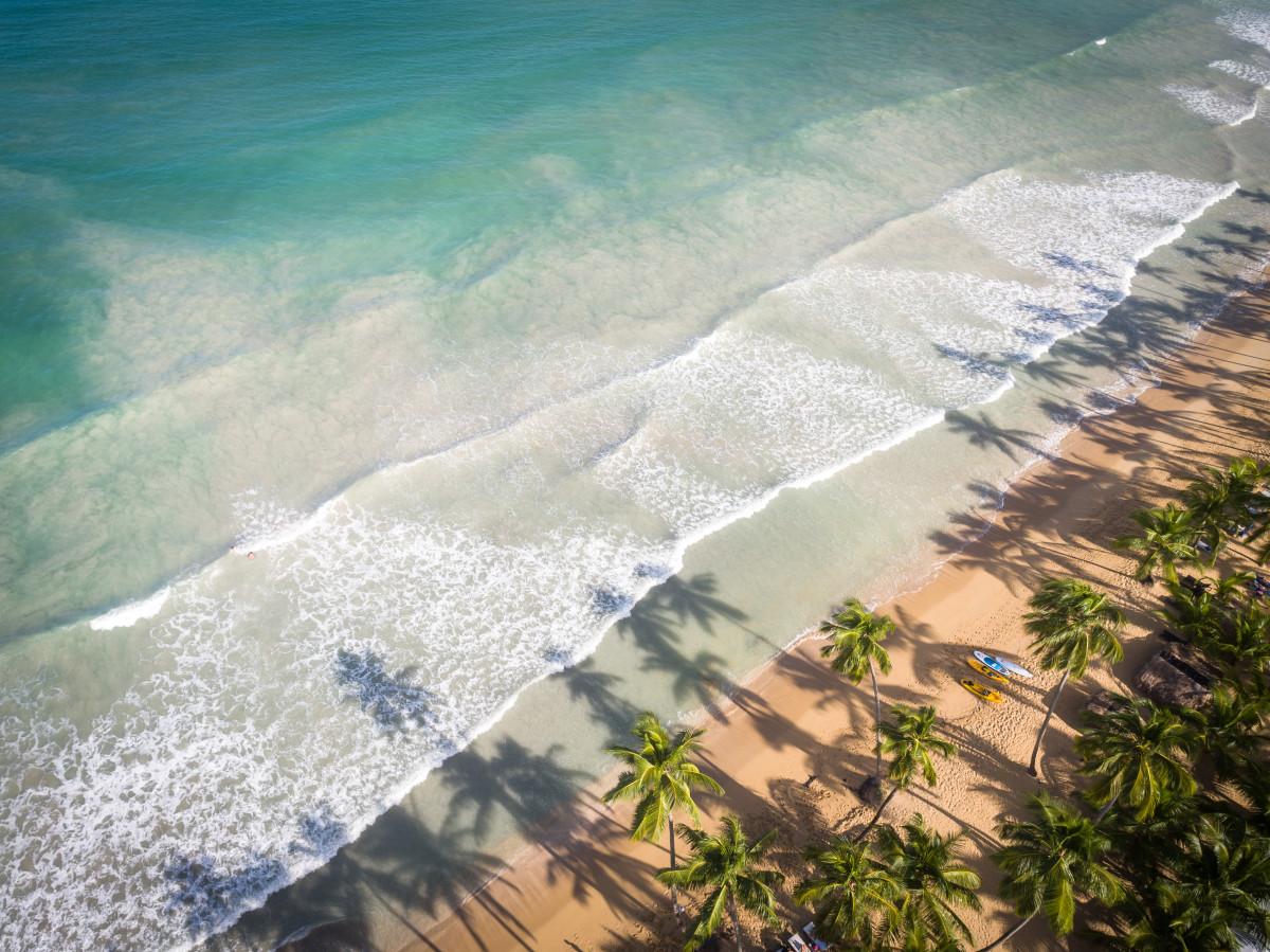 Beach aeral view