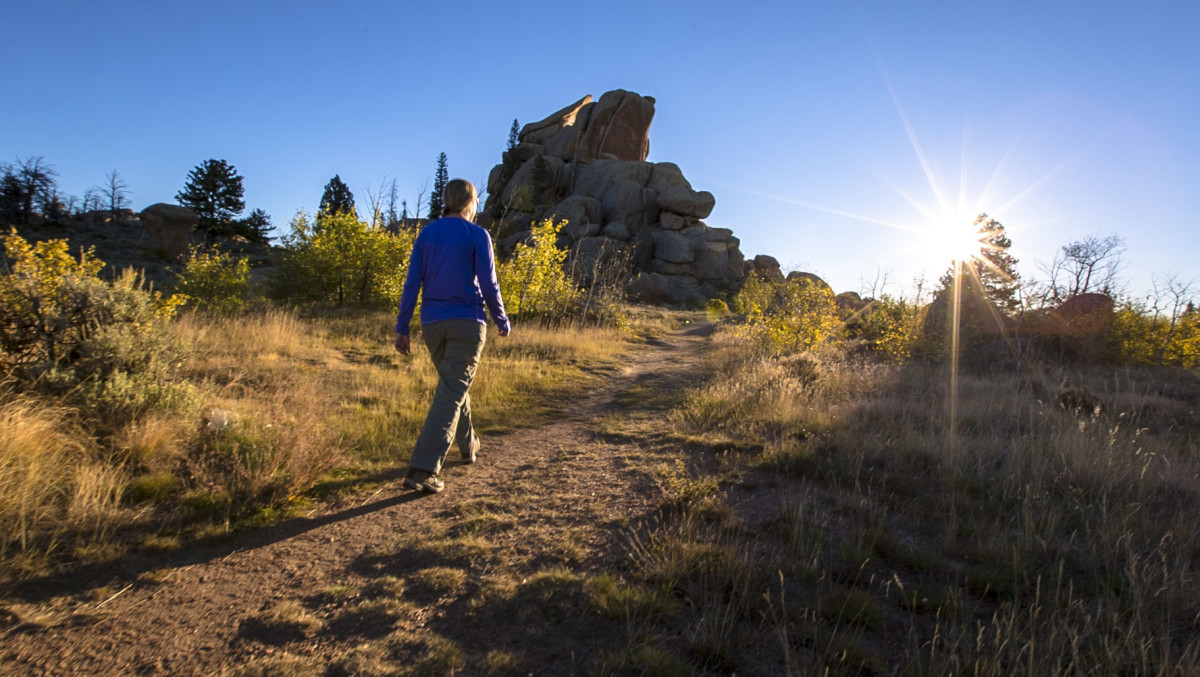 Rebecca Walsh Hike Like a Woman founder in Vedauwoo Rec Area_credit_BHP Images