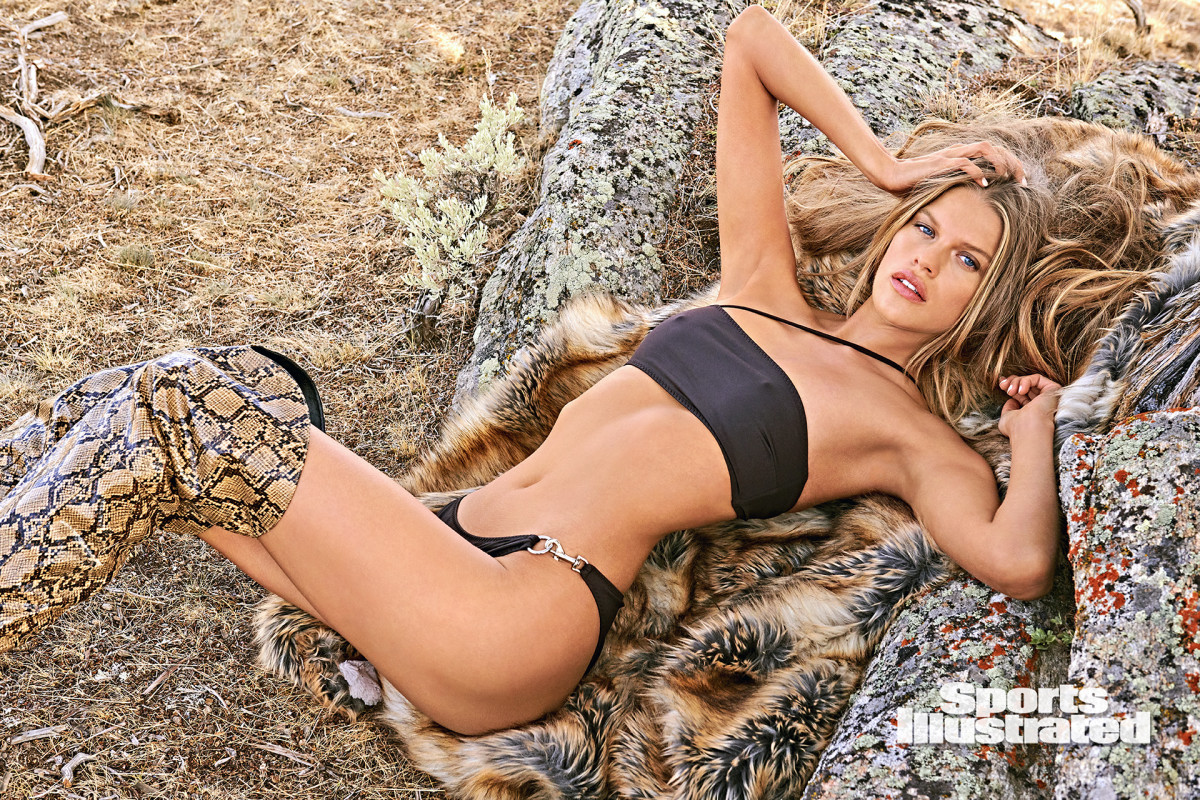 Kim Riekenberg was photographed by Ruven Afanador in Saratoga, WY. Swimsuit by Rudi Gernreich.