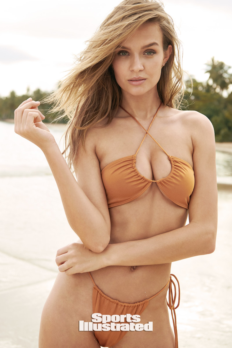 Josephine Skriver was photographed by Kate Powers in the Dominican Republic. Swimsuit by Sommer Swim.