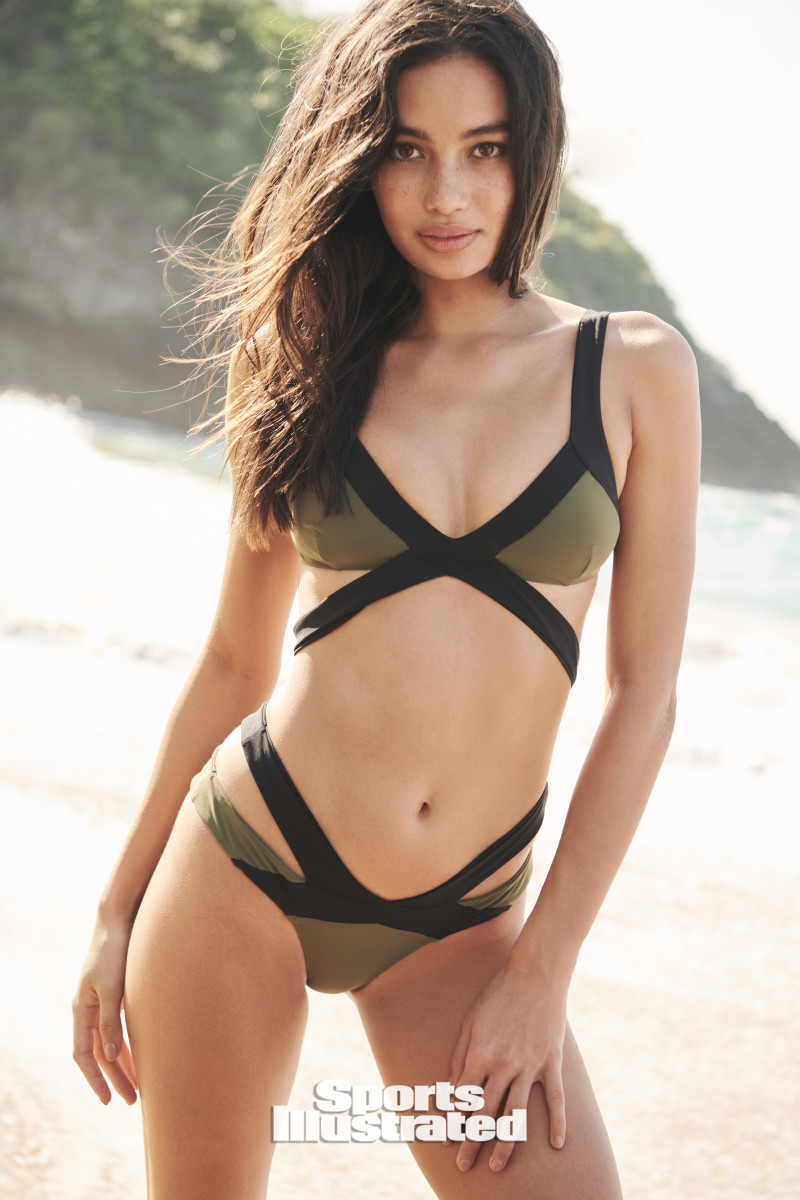 Kelsey Merritt was photographed by Kate Powers in the Dominican Republic.  Swimsuit by Agent Provocateur.