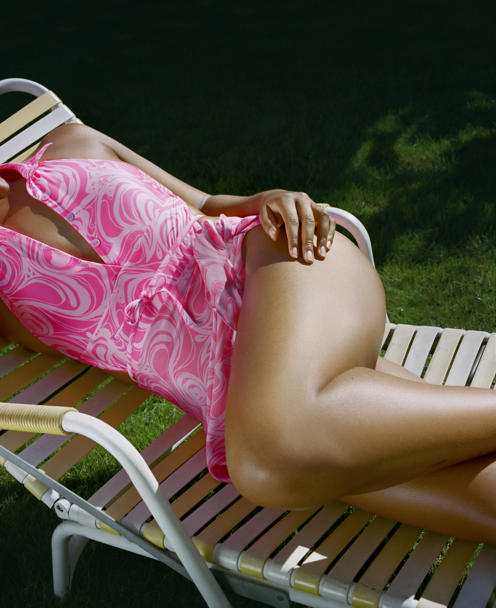 The Osaka One Piece with Matching Sarong in Cosmos