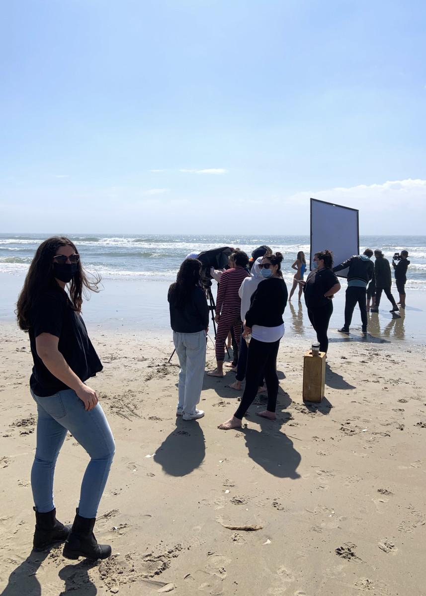 Darcie Burroughs on set in Atlantic City