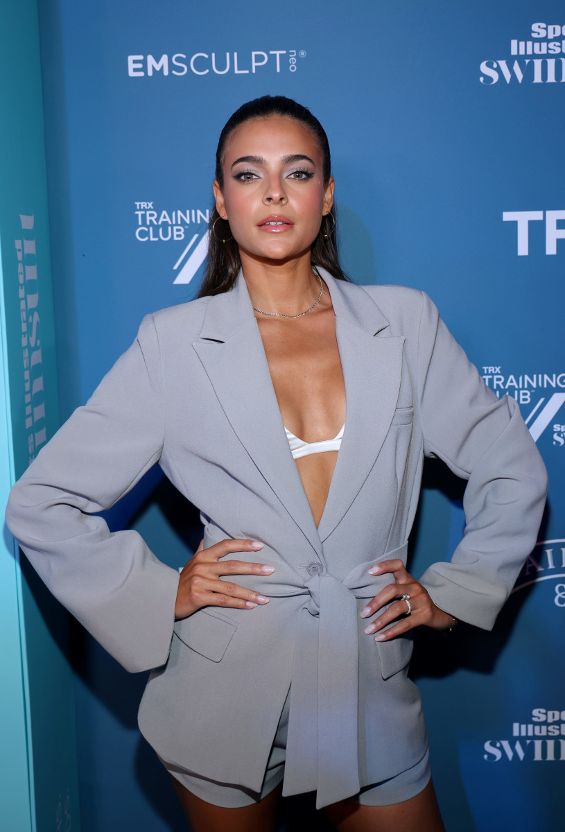 Ally Courtnall attends the Sports Illustrated Swimsuit celebration of the launch of the 2021 Issue at Seminole Hard Rock Hotel & Casino on July 23, 2021 in Hollywood, Florida.