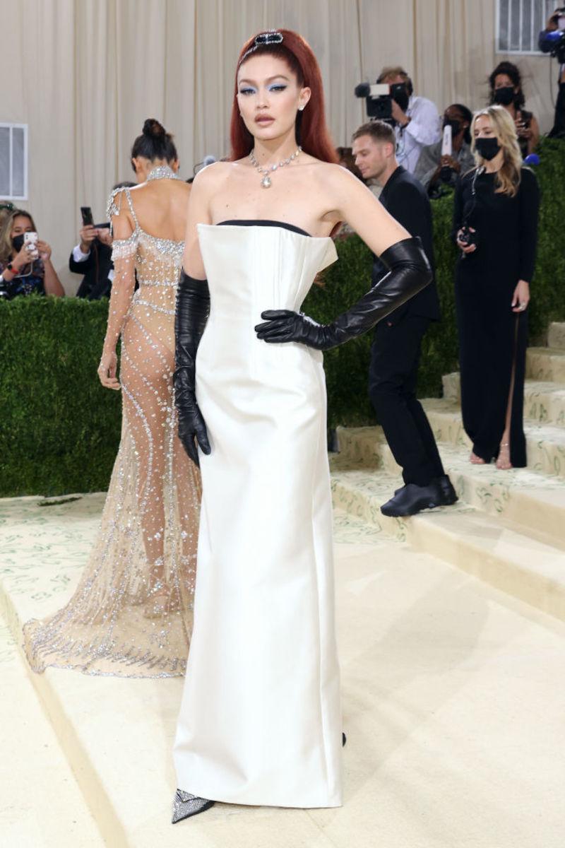 Gigi Hadid in Prada.Photograph byTaylor Hill/Getty Images
